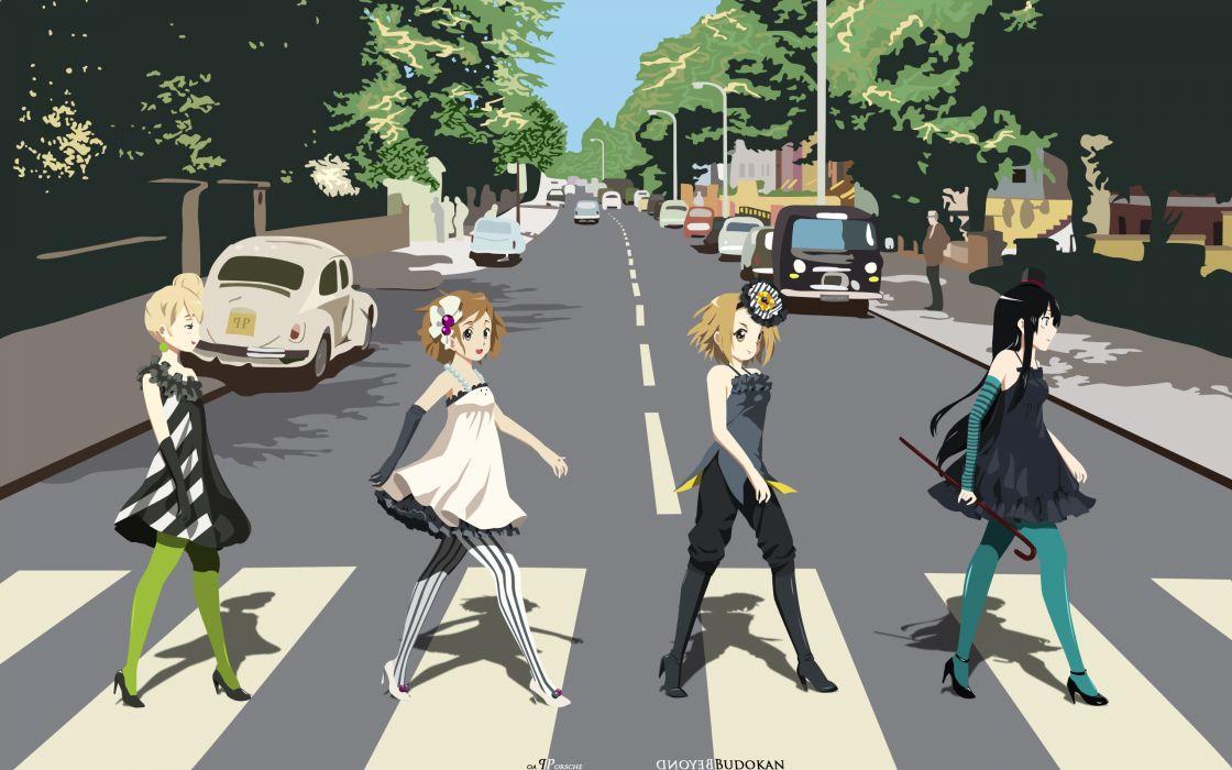 On! parody hirasawa yui akiyama mio tainaka ritsu kotobuki tsumugi anime wallpaper