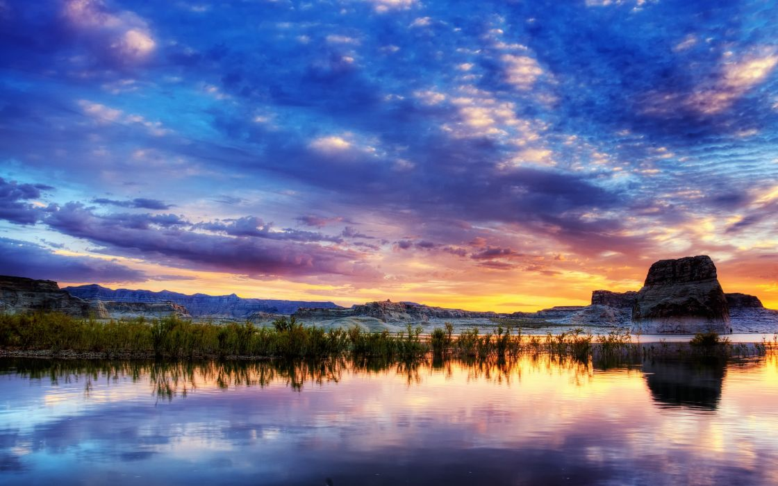 Landscapes nature hdr photography reflections wallpaper