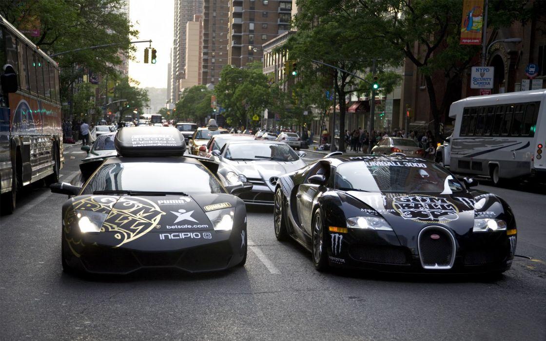 Black cars bugatti veyron bugatti gumball supercars lamborghini reventon wallpaper