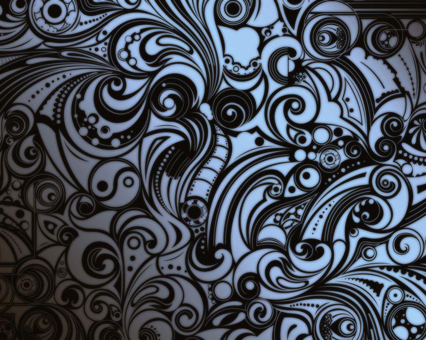 Black and white artwork wallpaper