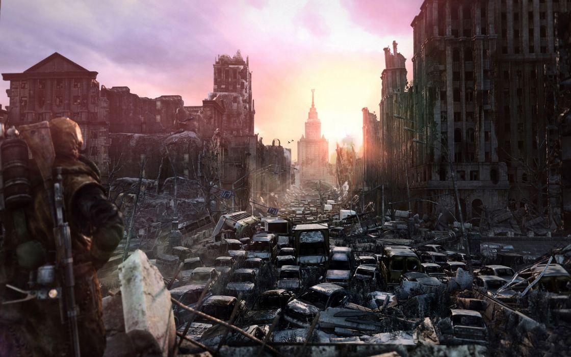 Light video games ruins destruction last apocalypse metro video games metro last light wallpaper