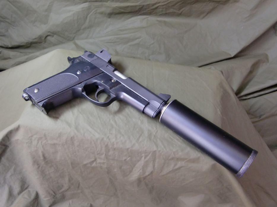 Pistols guns 9mm silencer wallpaper