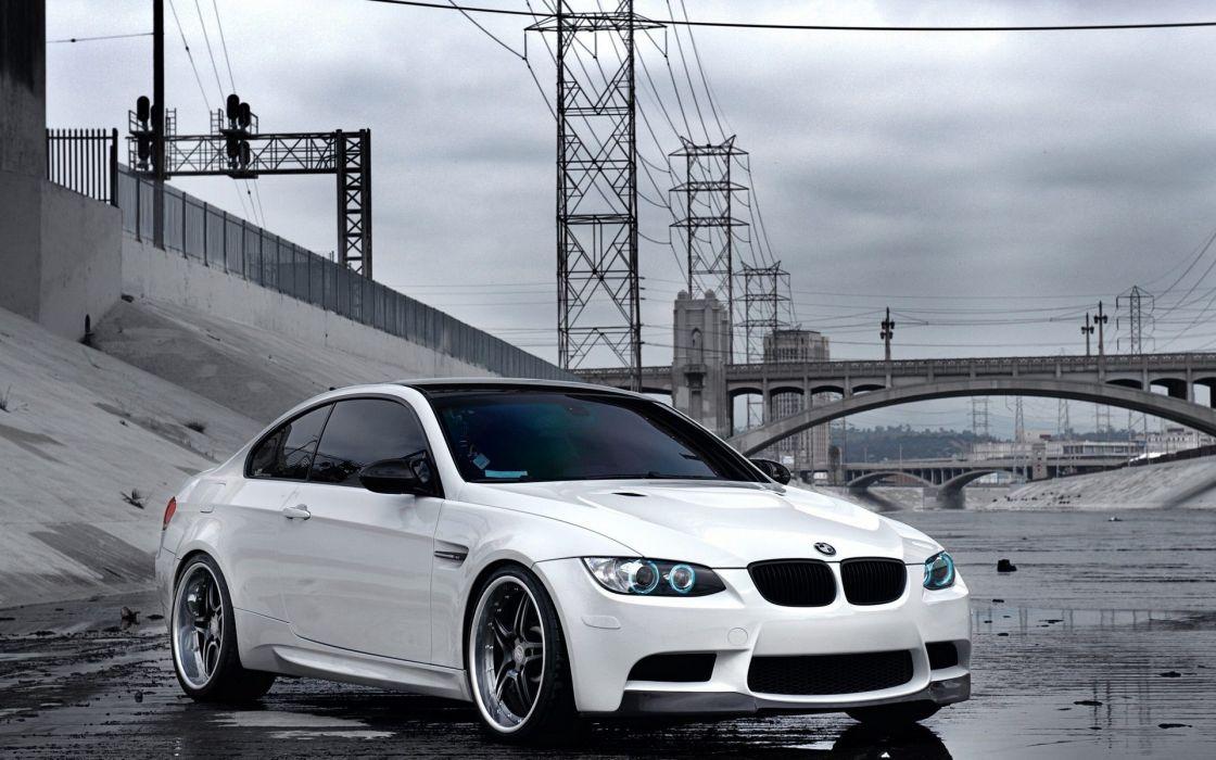 Bmw tuning white cars wallpaper