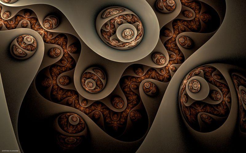 3D view fractals wallpaper