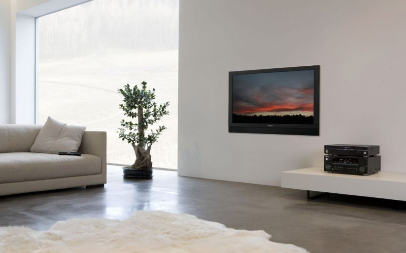 Tv couch home interior wallpaper