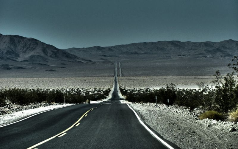 Mountains desert highway route 66 roads route wallpaper