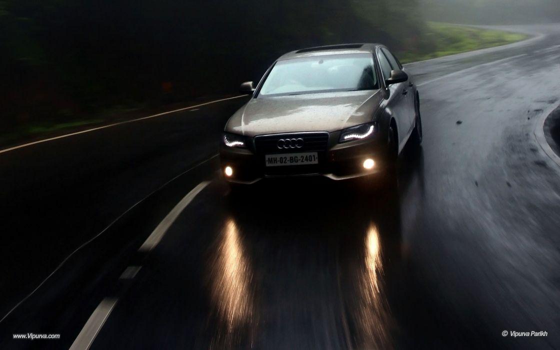 Rain cars audi drive season suv wallpaper