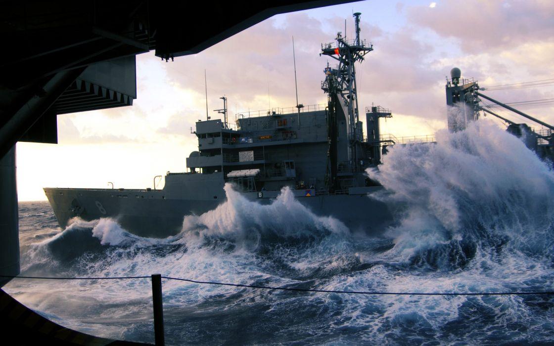 Carrier waves marine aircraft carriers wallpaper