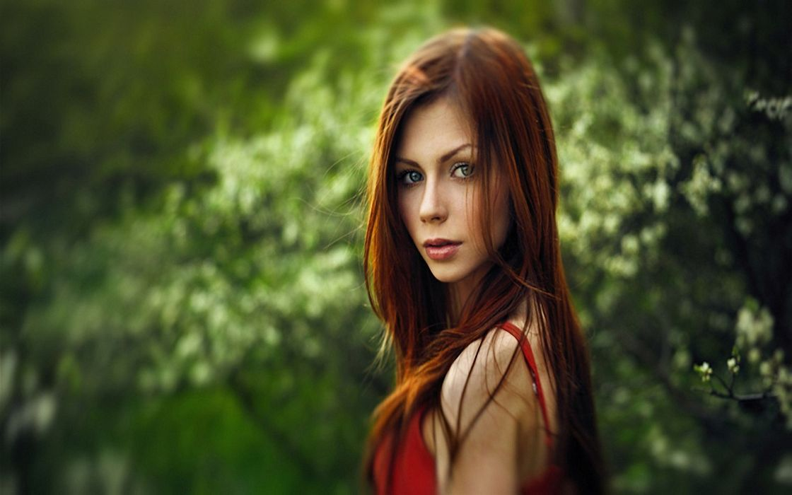 Redheads faces wallpaper