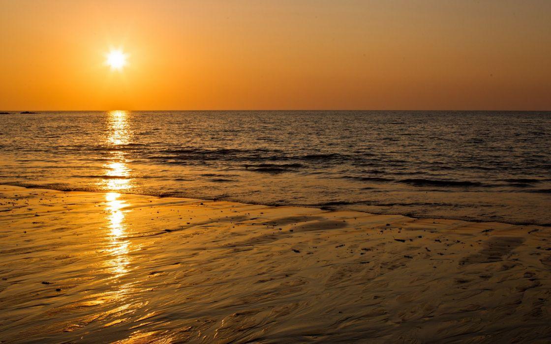 Nature sun beach seascapes wallpaper