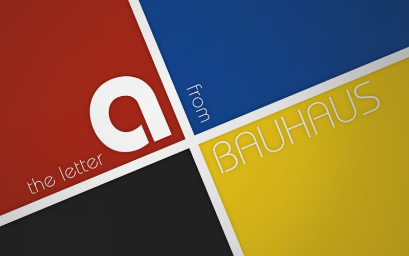 Typography bauhaus wallpaper