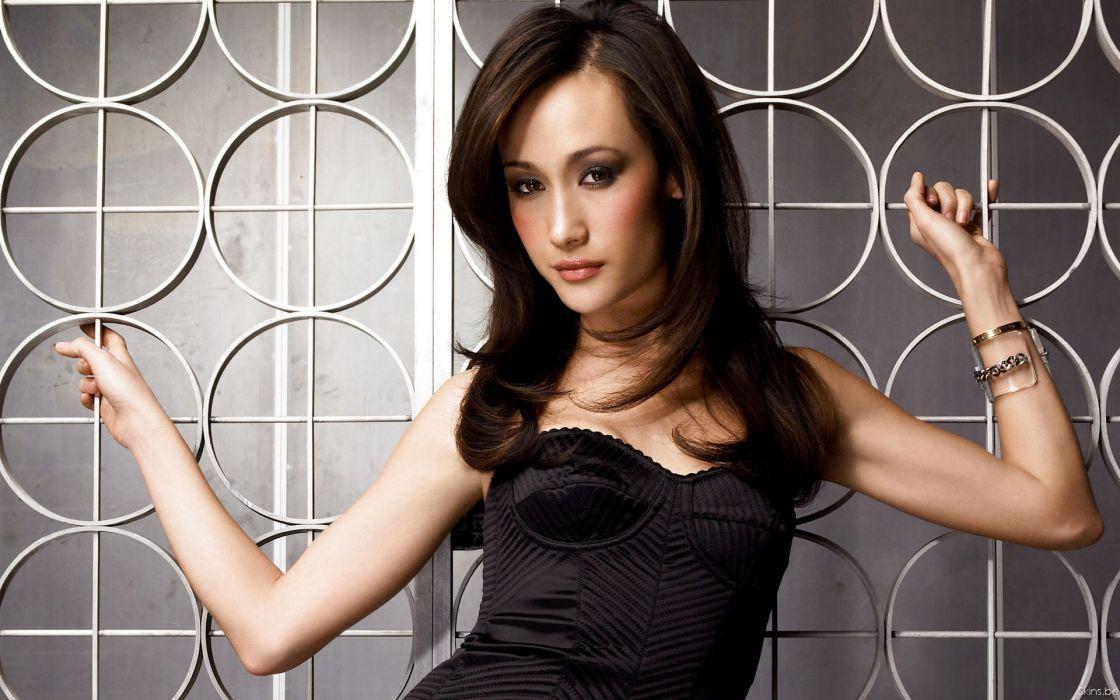 Women actress corset maggie q wallpaper