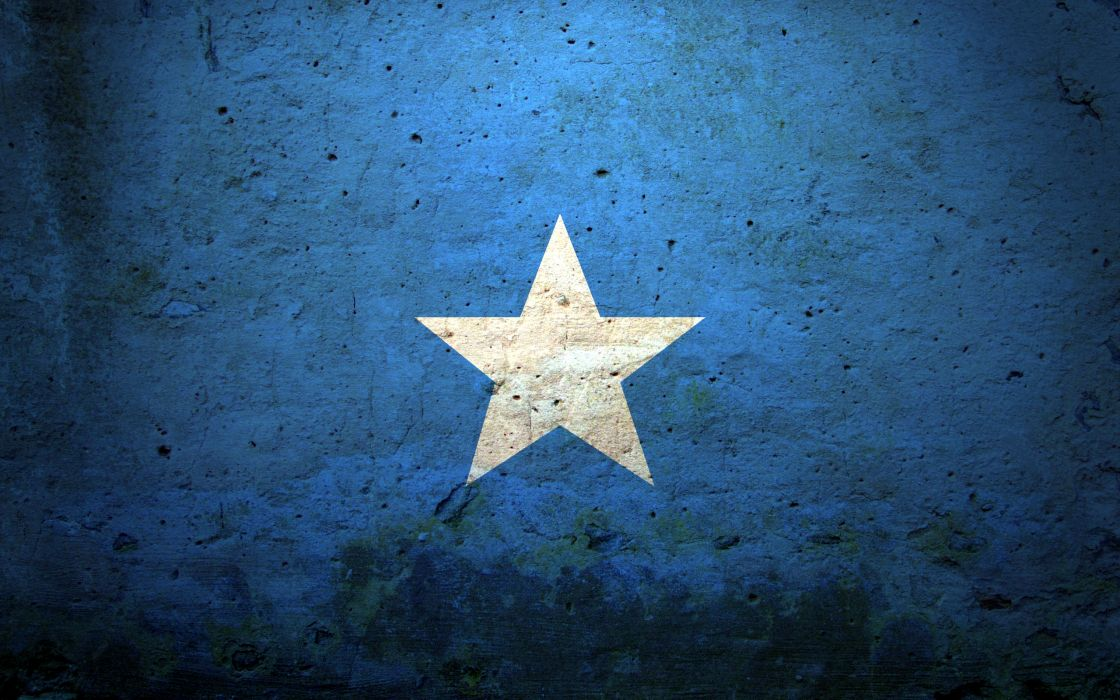 Blue minimalistic stars wallpaper