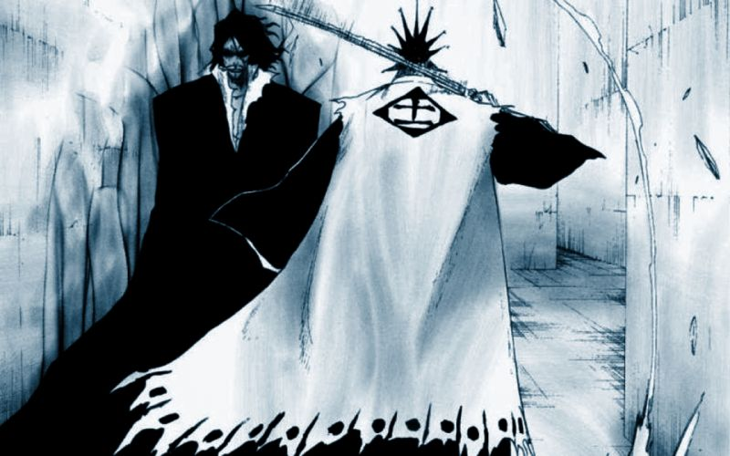 Bleach zaraki kenpachi zangetsu swords wallpaper