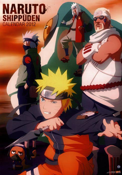 Naruto shippuden calendar naruto uzumaki kakashi hatake jiraiya killer bee pakkun wallpaper