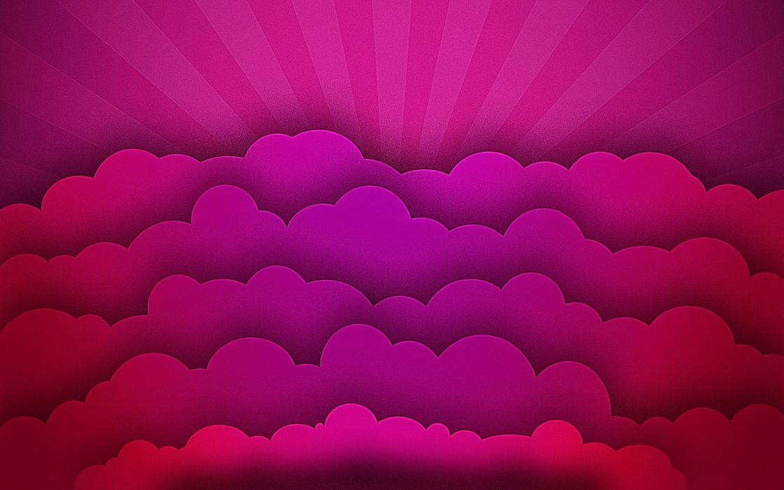 Abstract clouds pink wallpaper