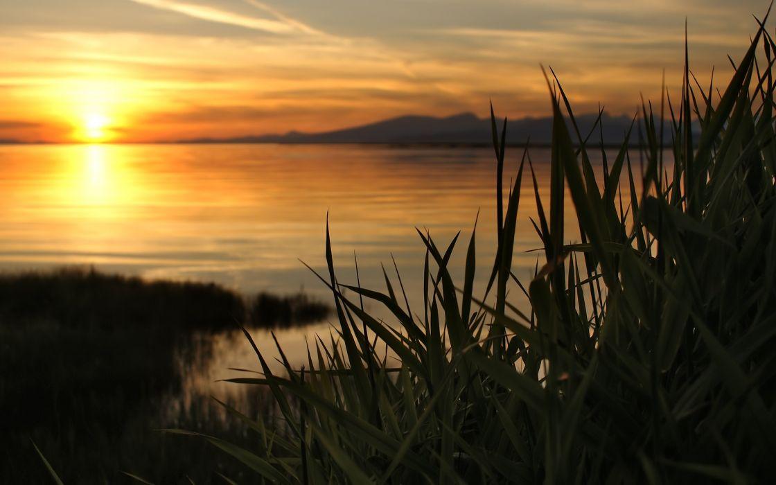 Sunset sun lakes wallpaper