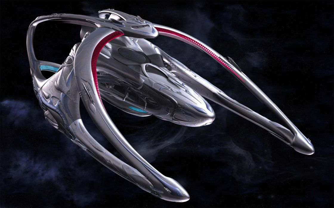 Outer space andromeda spaceships digital art 3d render 3ds max  wallpaper
