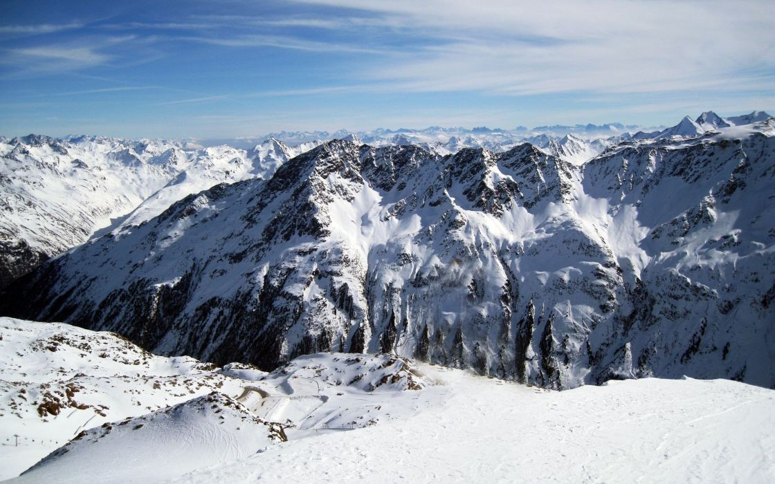 Mountains landscapes winter landscapes wallpaper