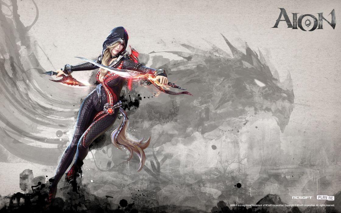 Assassins aion ncsoft mmorpg wallpaper