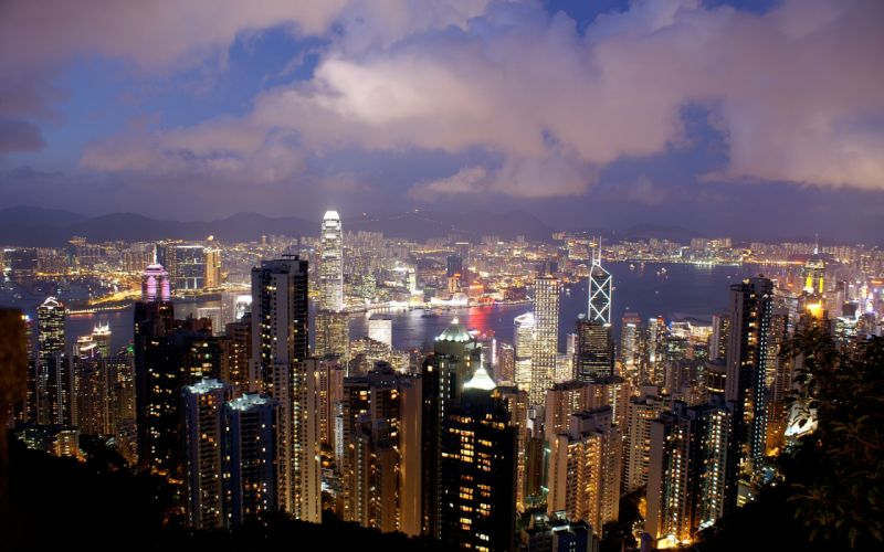Cityscapes buildings hong kong cities wallpaper
