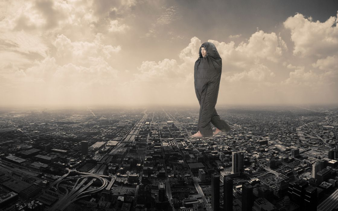 Cityscapes funny buildings photomanipulations wallpaper