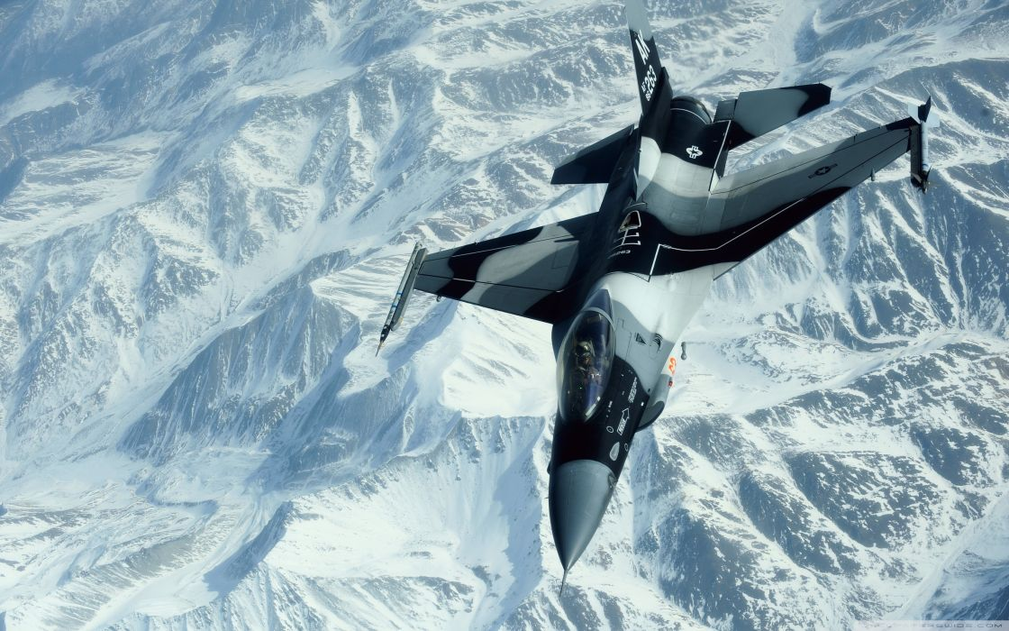 16 Fighting falcon aerial photography wallpaper