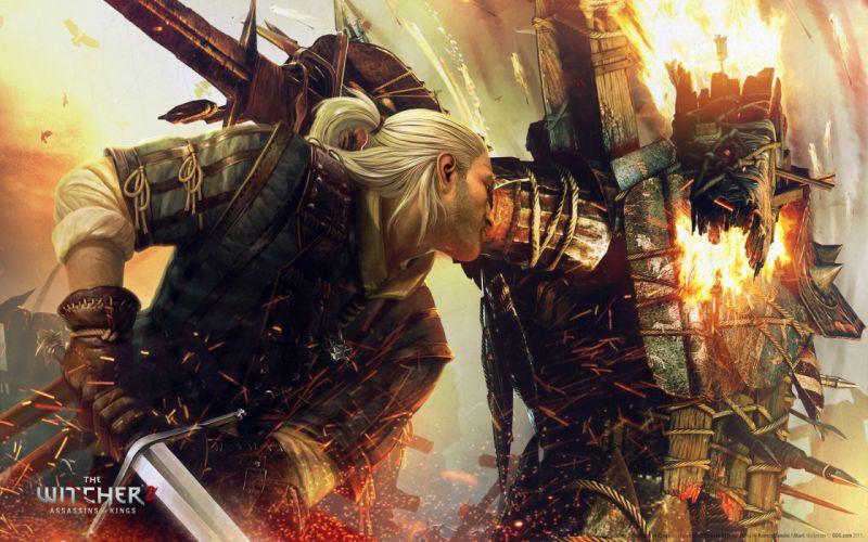 Fantasy video games digital art the witcher 2 wallpaper