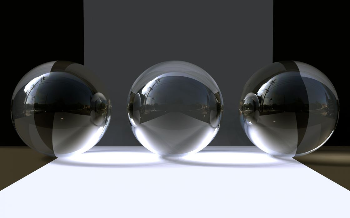 Abstract objects 3d wallpaper