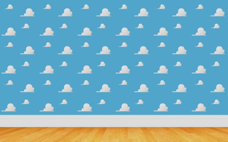 Clouds wall toy story wallpaper