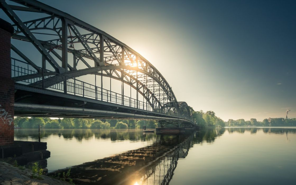 Water bridges rivers wallpaper