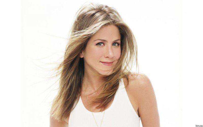 Blondes women actress jennifer aniston white background wallpaper