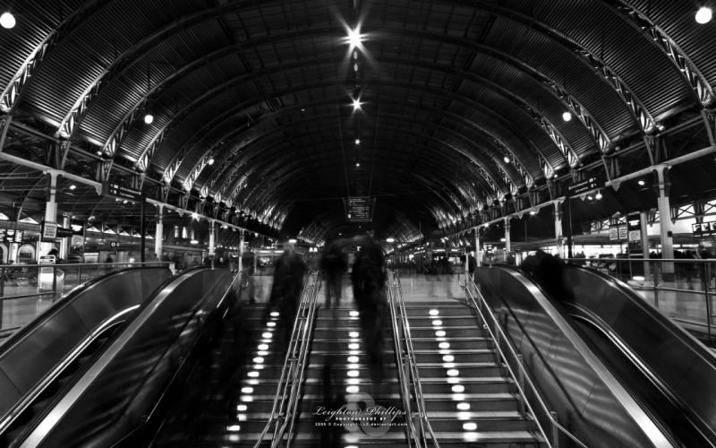 London people stairways grayscale escalators monochrome wallpaper