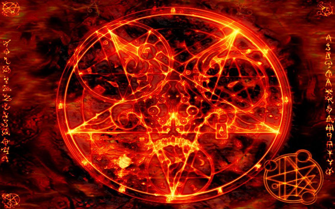 Pentagram satanic wallpaper
