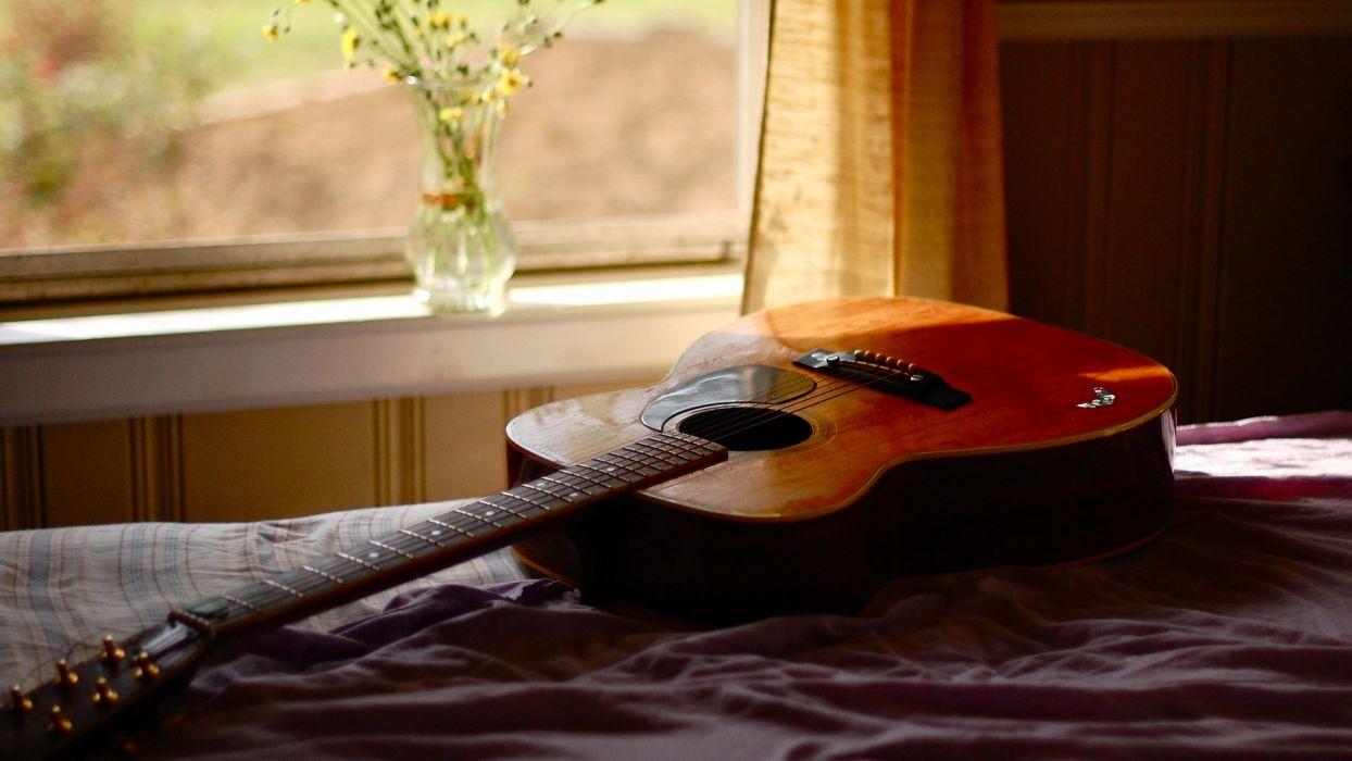 Bed Guitar wallpaper