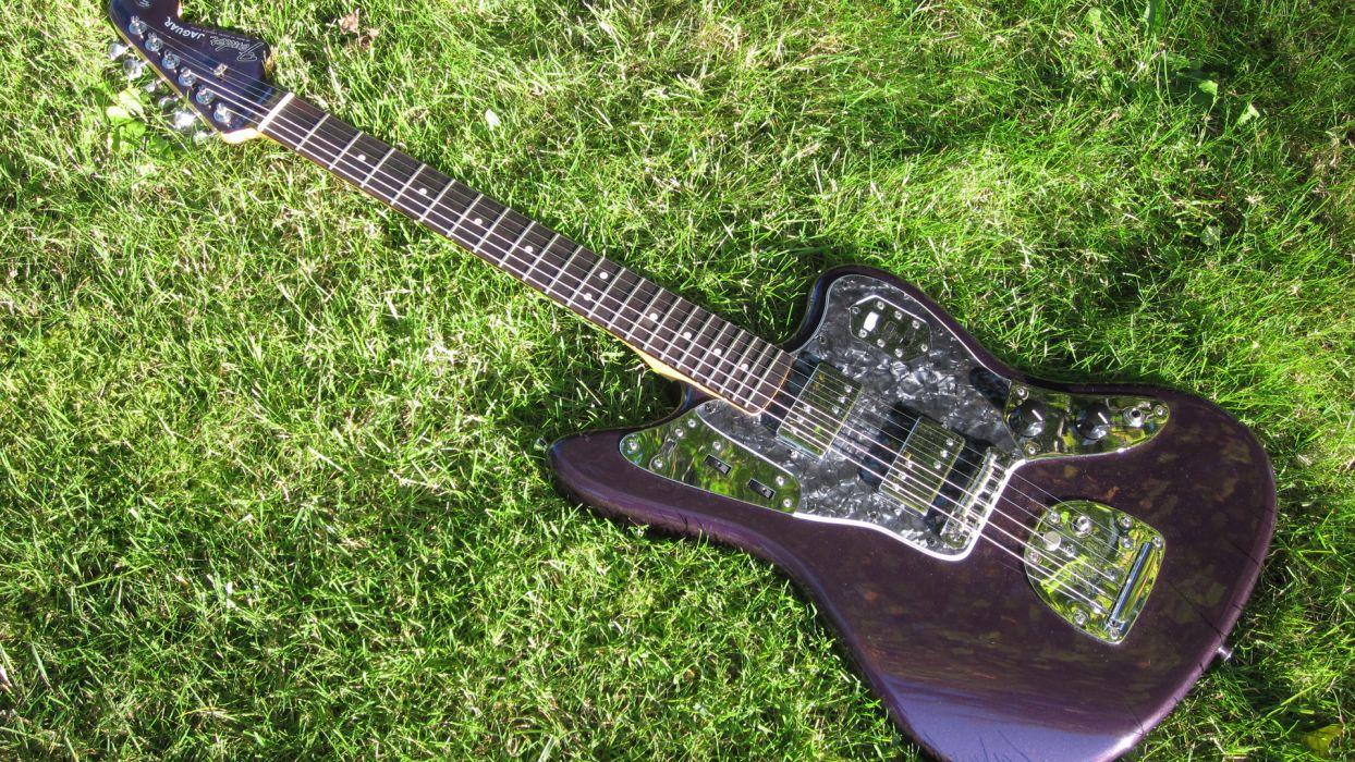 Grass Guitar wallpaper