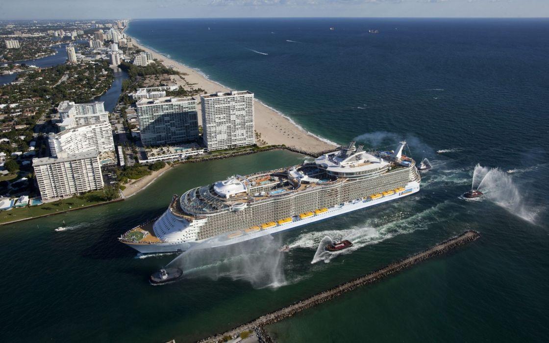 Cityscapes seas ships wallpaper