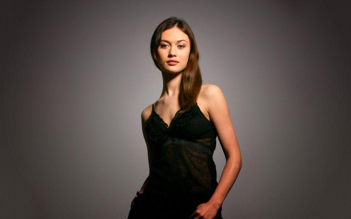 Women olga kurylenko black dress portraits wallpaper