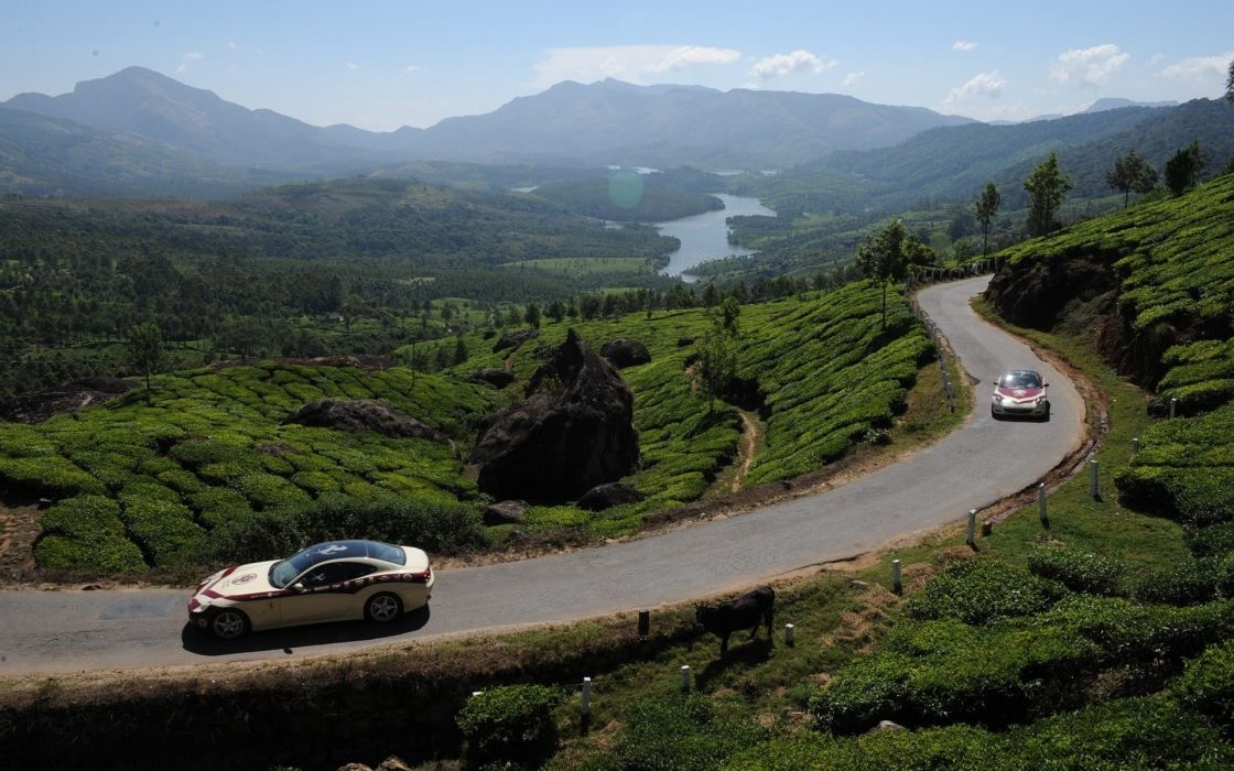 Landscapes cars roads mountain road wallpaper
