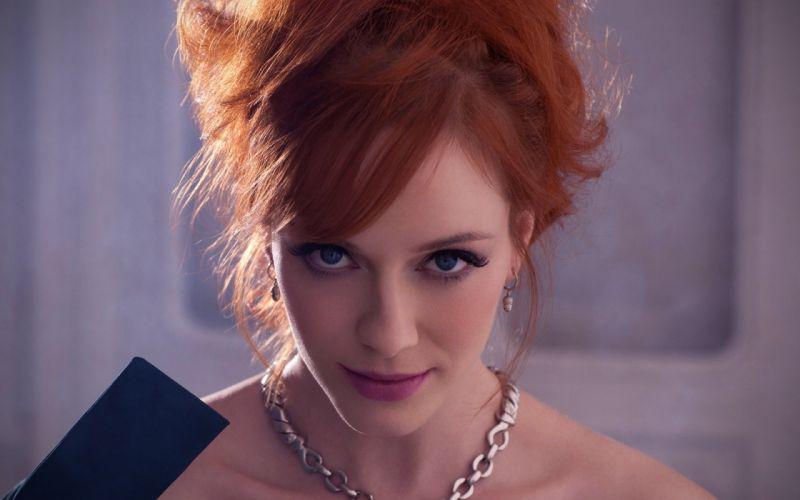 Women redheads christina hendricks wallpaper