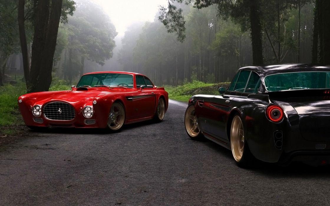 Cars roads tuning ferrari f340 competizione gullwing america wallpaper
