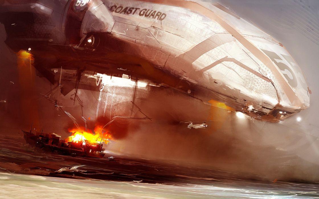 Spaceships digital art vehicles wallpaper