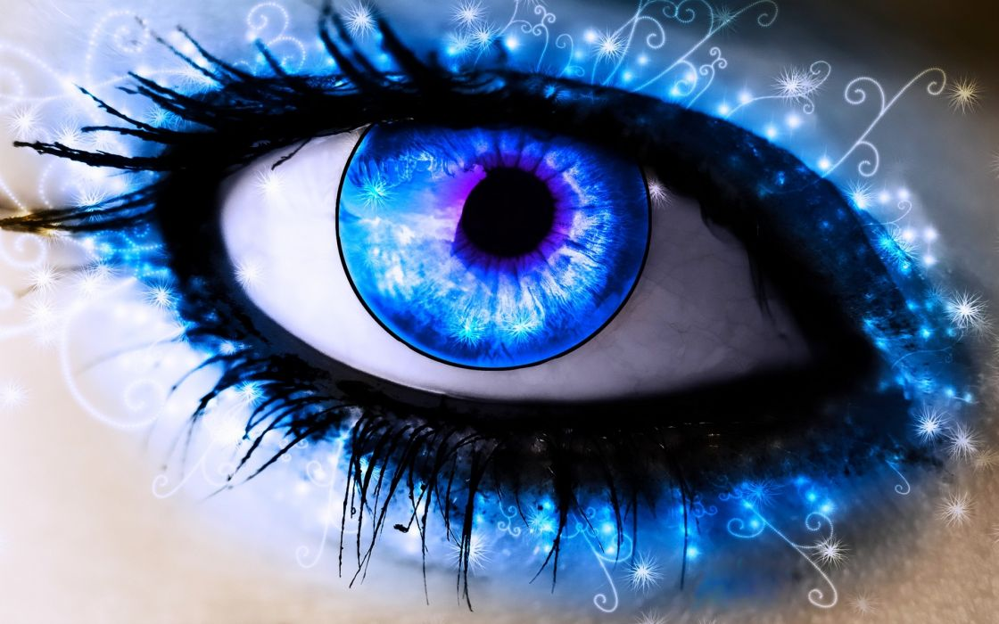 Up abstract blue eyes blue eyes artwork macro colors wallpaper