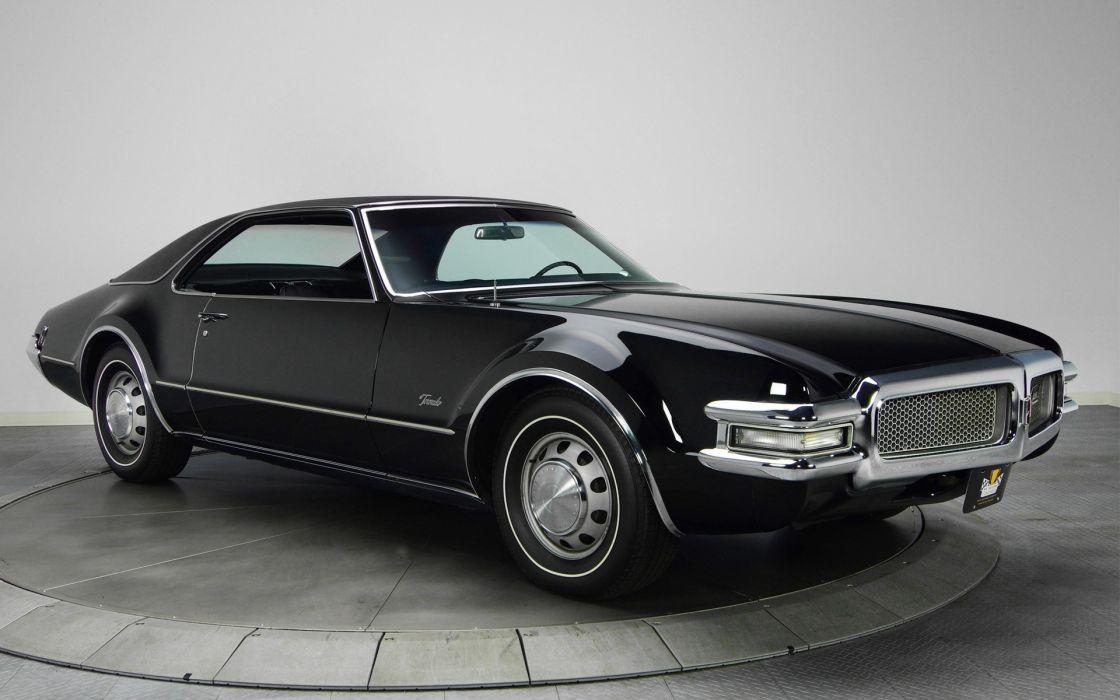 Studio muscle cars black cars classic cars oldsmobile toronado wallpaper