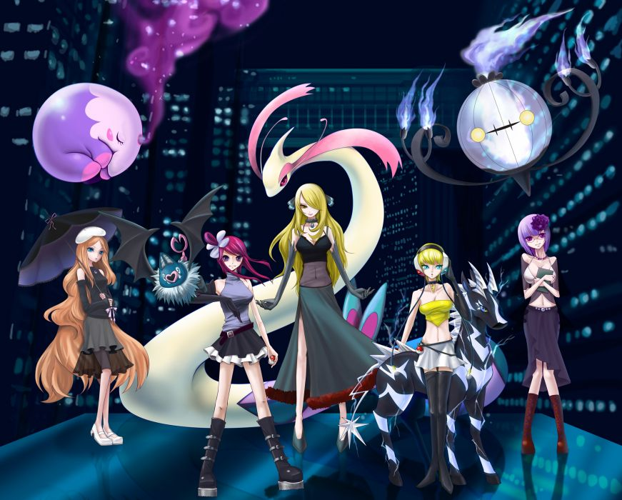 Pokemon kamitsure anime girls wallpaper