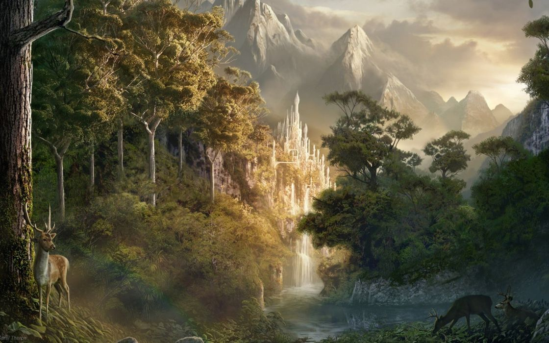 Landscapes nature fantasy art artwork wallpaper