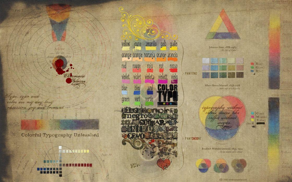 Texts design typography shapes diagram colors color spectrum typefaces wallpaper