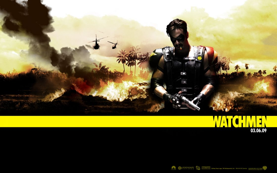 Watchmen movies viet nam the comedian jeffrey dean morgan posters wallpaper