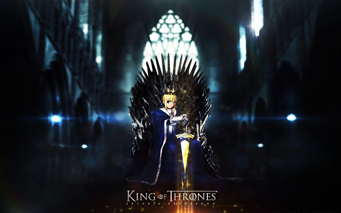 Blondes fatestay night king game of thrones anime girls fate series thrones wallpaper