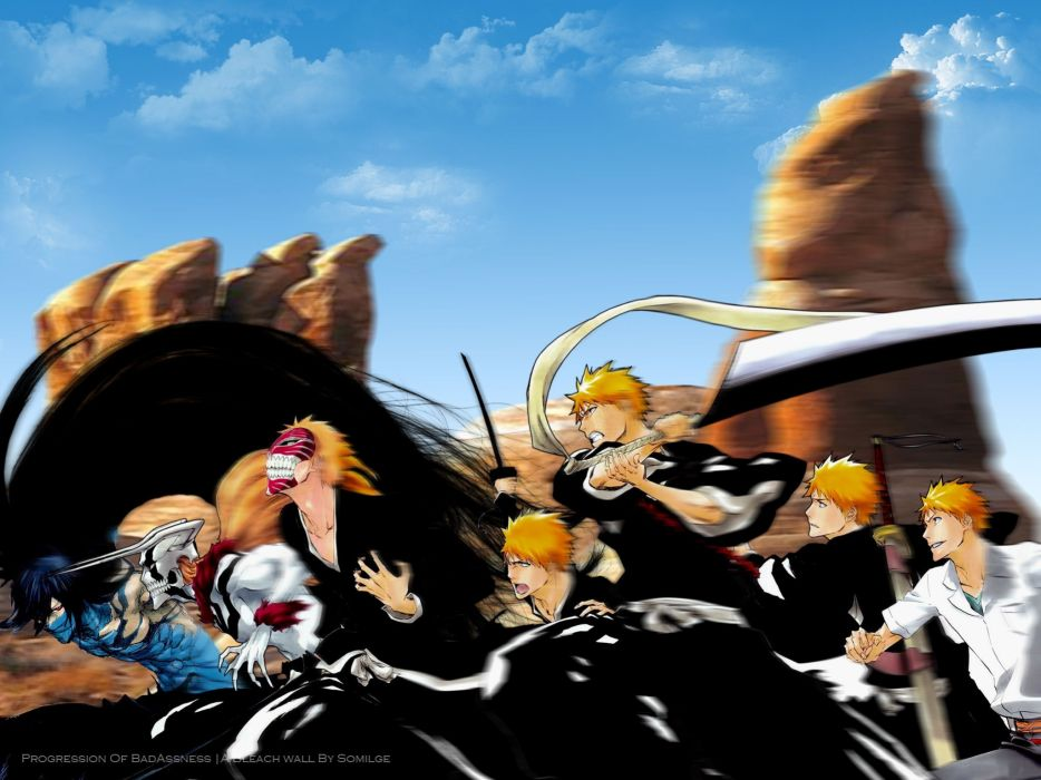 Bleach Kurosaki Ichigo Evolution Hollow Zanpakuto Final Getsuga Tenshou Mugetsu Vastolorde Wallpaper